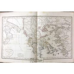 1823 Delamarche, GRECE, GRAECIAE ANTIQUAE, carte ancienne, antiquarian map, landkarte, kupferstich
