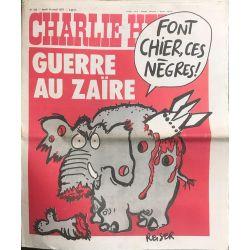 1977 CHARLIE HEBDO 335. Guerre au Zaïre. Font chier, ces nègres!