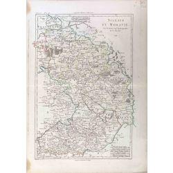 1788 Bonne, Silésie et Moravie / Schlesien, Maehren. carte ancienne, antiquarian map, landkarte, kupferstich.