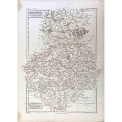 1788 Bonne, Bohème et Lusace / Boehmen, Lausitz. carte ancienne, antiquarian map, landkarte, kupferstich.