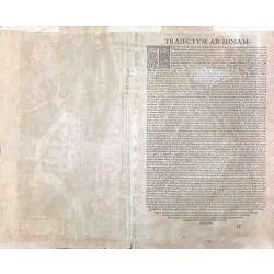 1575 Braun-Hogenberg, Maestricht / Maastricht, Pays-Bas. carte ancienne, antiquarian map, landkarte, kupferstich