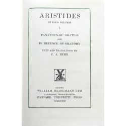 Aristides, Orations, vol. 1 / Loeb Classical Library