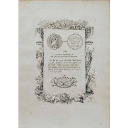 Numismatique, gravure authentique, Autre medaille sur la naissance de m le dauphin 1730