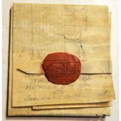 1452 parchemin vellum manuscript manuscrit Lettre de Bachelier en Droit civil