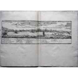 1695, Carte ancienne Barcelone, Catalogne, Cataluña, Catalunya, mapas antiguos, antiquarian Map, Barcelona, N. de Fer