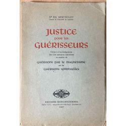 Bertholet, Justice pour les Guérisseurs, 1947.