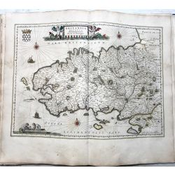 c1645 BLAEU, Carte ancienne, hand coloured Antique Map, Bretaigne,brittania, bretagne .