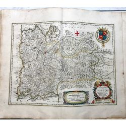 c1645 BLAEU, Carte ancienne, hand coloured Antique Map, Delphinatus vulgo Dauphiné