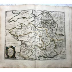 c1645 BLAEU, Carte ancienne, hand coloured Antique Map, France Galliae veteris, A. Ortelli .