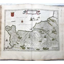 c1645 BLAEU, Carte ancienne, hand coloured Antique Map, Normandie, Normandia ducatus .