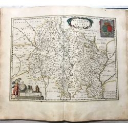 c1645 BLAEU, Carte ancienne, hand coloured Antique Map, Cadurcium Vernaculé Querci .
