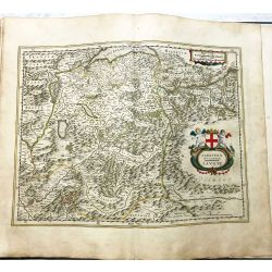 c1645 BLAEU, Carte ancienne, hand coloured Antique Map, Savoye Sabaudia .