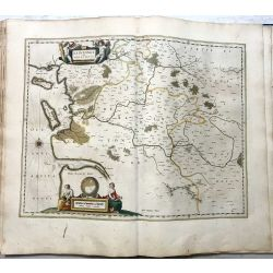 c1645 BLAEU, Carte ancienne, hand coloured Antique Map, Xaitongue et Angoumois, Saintes, Angoulême, isle de re, oleron.