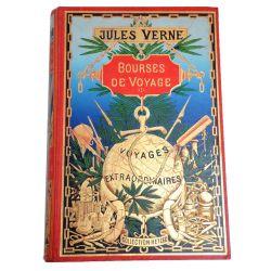 Bourses de voyage Cartonnage au globe doré jules verne
