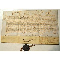Bulle pontificale du Pape Innocentius XII sceau papal bull Manuscrit Manuscript Parchemin