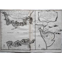 1695, Carte ancienne, mapas antiguos, antiquarian Map, detroit de GIBRALTAR, CADIS, N. de Fer