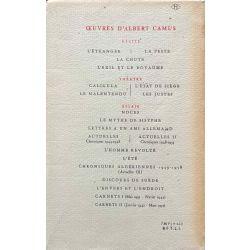 Camus, Le mythe de Sisyphe, 1942.