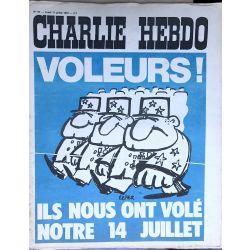 1972 CHARLIE HEBDO 87. Voleurs du 14 juillet.