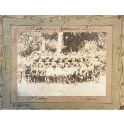 Chasseurs d'afrique 4 ième régiment, Blida, Algerie, photo argentique, vintage photo