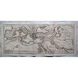 1726, Carte ancienne, antiquarian Map, Carte ancienne, antiquarian Map , des pays ou les chevaliers de st Jean de Jerusalem ont porte leurs armes , histoire de MALTE