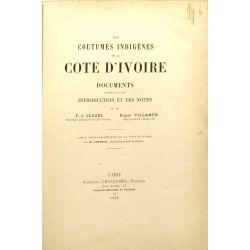 Coutumes indigènes de la Côte d'Ivoire, Clozel et Villamur, 1902.