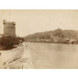 colombe les vienne Tour Valois, vintage albumen print, old photo, tirage argentique albuminé,1880/90, N.D.Phot.,Neurdein.