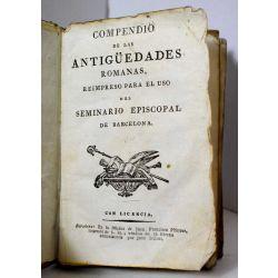 la18 Compendio de las antiguedades romanas 1771, velin , vellum