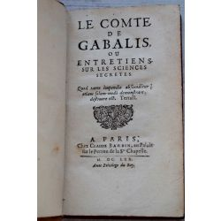 LA17 Le comte de Gabalis, E.O, 1st ed, entretiens sur les sciences secretes, Montfaucon de Villars .
