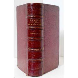 la18 TACITE 1734 plein marocain moroccan, C. Cornelii Taciti opera quae extant omnia;