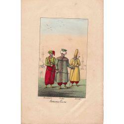 Lithographie, costumes turcs,1826, Comte de Noe, joliement coloriée