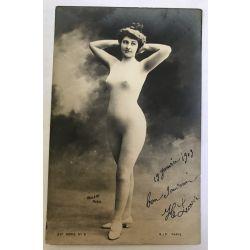 CPA femme seins nue,26e-serie 5, argentique, antique postcard, Nude.