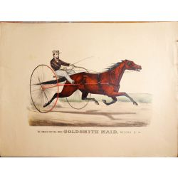 1871 Trotting horse GOLDSMITH MAID ,Currier & Ives, J. Cameron, print, Litho, chevaux