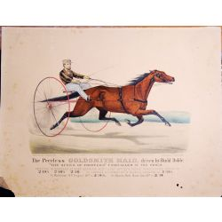 1871, Trotting horse, the PEERLESS GOLDSMITH MAID, BUDD DOBLE, Currier & Ives, chevaux, print, Litho