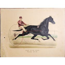 Trotting horse JAY EYE SEE ,Currier & Ives, chevaux, print, Litho