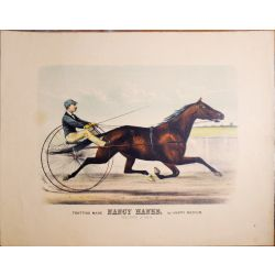 Trotting horse, mare,NANCY HANKS, Currier & Ives, chevaux, print, Litho