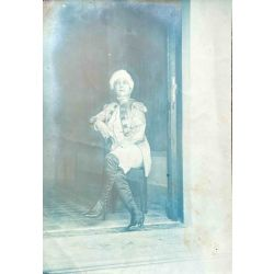 Cyanotype vintage photo, photo argentique bleue cyanotype, Indochine, ma Cessou, costume 1926