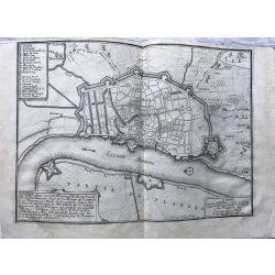1694 ANVERS / Antwerpen, Flandre, carte-ancienne-antiquarian-map-landkarte-kupferstich-n-de-fer