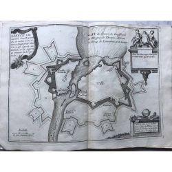1691 Geneve ville capitale, Suisse,landkarte, kupferstich,  carte-ancienne-antiquarian-map-n-de-fer