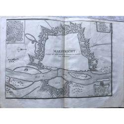 1690-MAASTRICHT-MAESTRICHT-ville-forte-carte-ancienne-antiquarian-map-landkarte-kupferstich-n-de-fer
