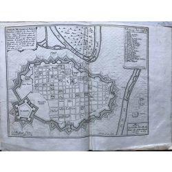 1690 TURIN / Torino, Capitale de Piémont, carte-ancienne-antiquarian-map-landkarte-kupferstich-n-de-fer