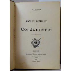 LA19 DEPRAT, Manuel complet de cordonnerie, 1900, illustré .