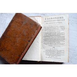 LA18, l'agronomie dictionnaire portatif cultivateur 2 vol., 1760, ALLETZ, Pons Augustin