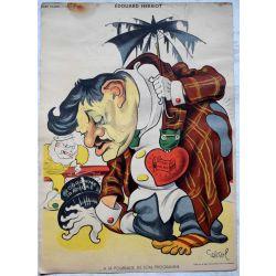 CARICATURE Raoul Cabrol  parti communiste EDOUARD HERRIOT, son programme