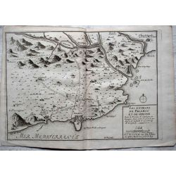 1694, Carte ancienne, Catalogne, Cataluña, Catalunya, GIRONE PALAMOS, mapas antiguos, antiquarian Map, catalonia Girone, N. de Fer