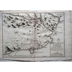 1694, Carte ancienne, Catalogne, Cataluña, Catalunya, GIRONE PALAMOS, mapas antiguos, antiquarian Map, catalonia Girone, N. de Fer