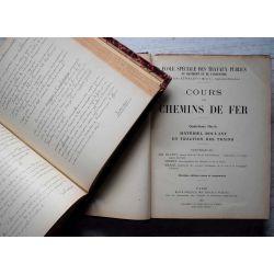 1912 cours de legislation chemins de fer  Professeur AUBRY