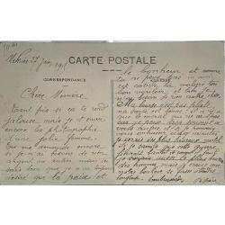 CPA Femme Sénégalaise, Nu ethnique, Grébert, Cassablanca, lettre d'amour grande guerre.