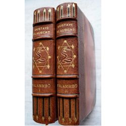 LA19 Salammbo, Flaubert, illustré par Bussière, ex 45 (31 a 100) contenant 3 etats des eaux fortes, sur japon