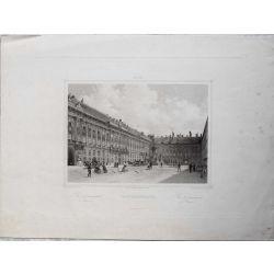 1860 VIENNE / WIEN, FRANZENSPLATZ, Place Francois I. gravure-engraving-stahlstich