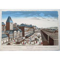 1760 VIENNE / WIEN, ANCIENNES GABELLES DE CESAR, vue d'optique, optical view, gravure-etching-kupferstich